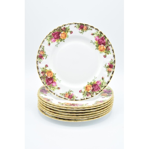 29 - Royal Albert 8'' side plates in the Old Country Roses design (8)...