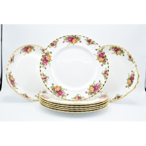 30 - Royal Albert Old Country Roses 10'' dinner plates (6) together with 2 cake plates (8 pieces in total...