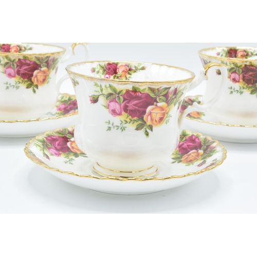 31 - Royal Albert Old Country Roses breakfast cups and saucers (3 duos) All in good condition without any...