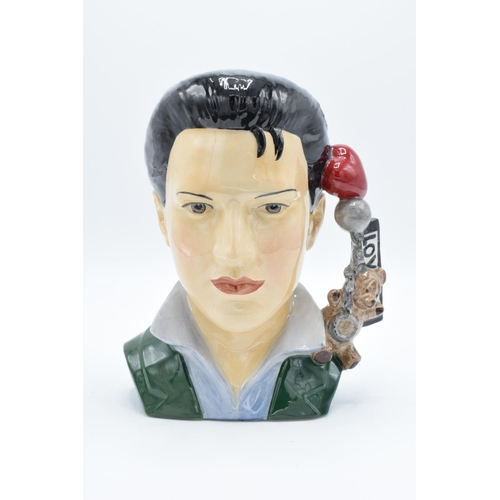 35 - Peggy Davies prototype character jug of Elvis Presley: 1/1 Artists Proof by M Jackson. All in good c...