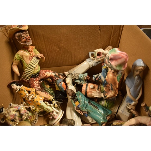 5B - A mixed collection of items to include: Capi di MOnte figures and similar items (mostly damaged)Cond...