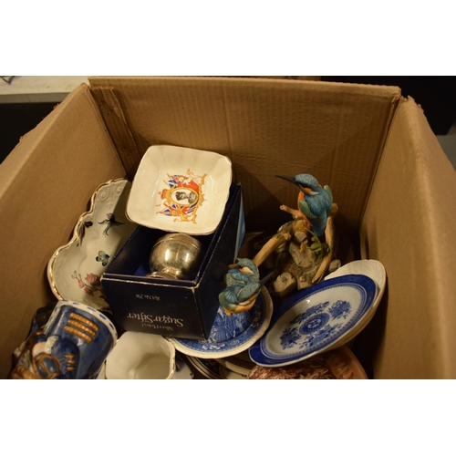 5E - A mixed collection of items to include Spode, Carlton Ware, toby jugs, silver plate etc . Condition ...