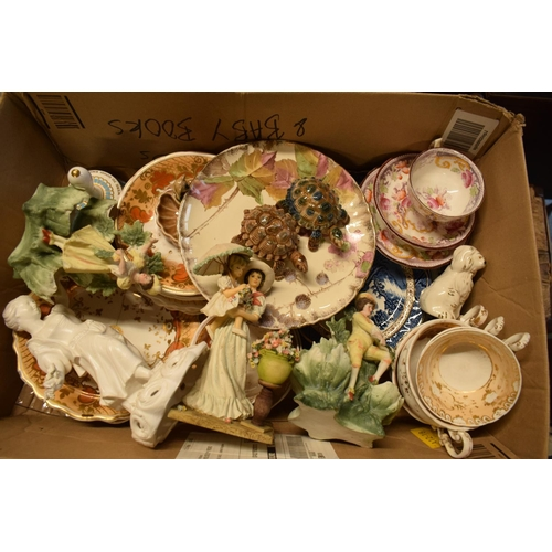 5F - A mixed collection of items to include Wade, Hammersley, 19th century tea ware etc.   Condition is m...