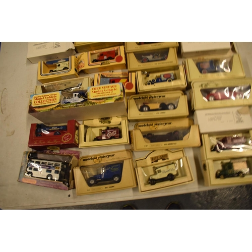 5L - A collection of boxed toy cars to include Halls, Lledo, Days Gone etc (approx 25)  Boxes are a bit t...