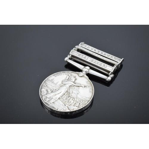 214A - Queen Victoria silver campaign medal with bars: Sgt A Davis, E Kent Reg