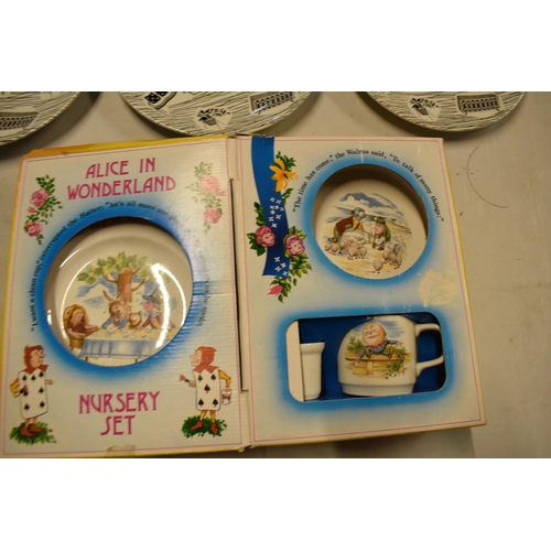 20 - A collection of Ridgway Homemaker 10'' dinner plates (3) together with a Johnsons Brothers Alice in ...