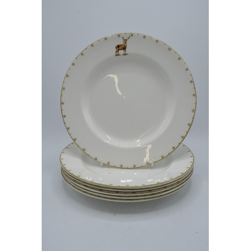 29 - A collection of 6 Spode 27cm diameter dinner plates in the Glen Lodge design (6). In good condition ...