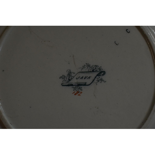 30 - A collection of 6 Victorian 27cm diameter dinner plates with 'JAVA' on reverse (6).