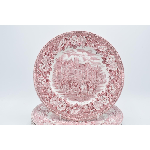 30A - Aynsley and Co Ironstone plates 'England's Heritage', 10 inch diameter (5). In good condition with n...