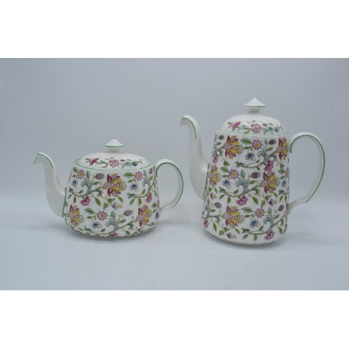 36 - A collection of Minton Haddon Hall items to include tea and coffee pots, 6 cups and saucers and a mi...