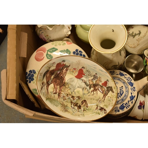 5D - A mixed collection of items to include Royal Worcester, Carlton Ware, a glass dressing table set etc...