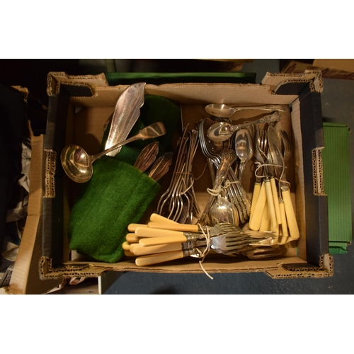 5T - A large collection of steel and silver plate cutlery