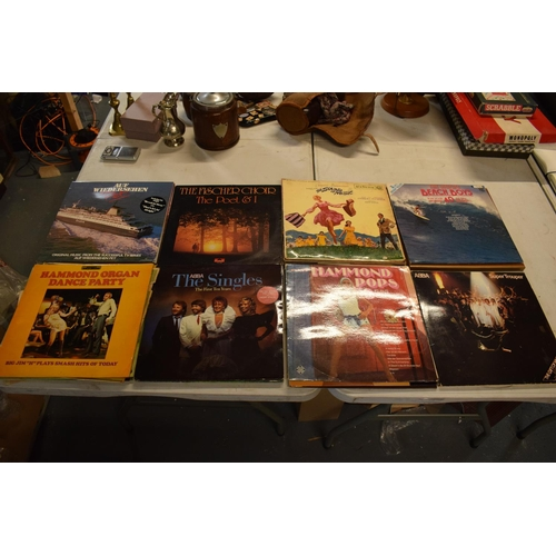 10 - A collection to mainly 12'' LPs and vinyls to include artists such as ABBA, the Beach Boys, Carpente...