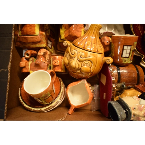 25 - A mixed collection of items to include a Moorcroft pin tray af, Price Kensington Cottage ware, Yardl...