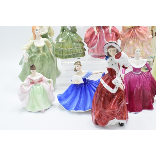 28 - A collection of lady figures to include Royal Doulton, Coalport and other makes too however most fig...