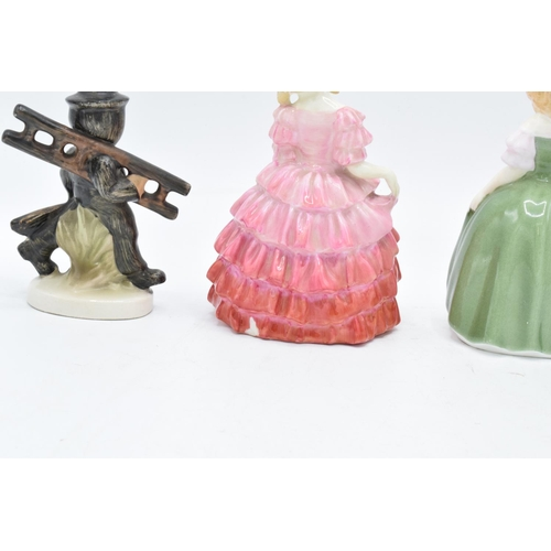 39 - A collection of figures to include Royal Doulton Rose HN1368, Penny HN2338 (2nd) and Goebel/ Hummel ...