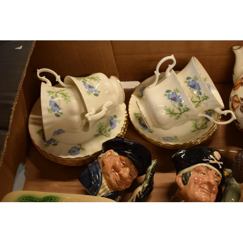 7 - A mixed collection of items to include a Coalport figure of a Grenadier Guard af, Doulton character ...