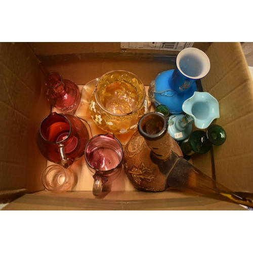 10f - A collection of mainly 19th century glassware to include cranberry etc. Condition is mixed. No condi...