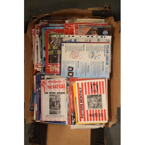 10g - A collection of mainly Stoke City football programmes and Oatcakes mainly from the 1990s onwards (qu...