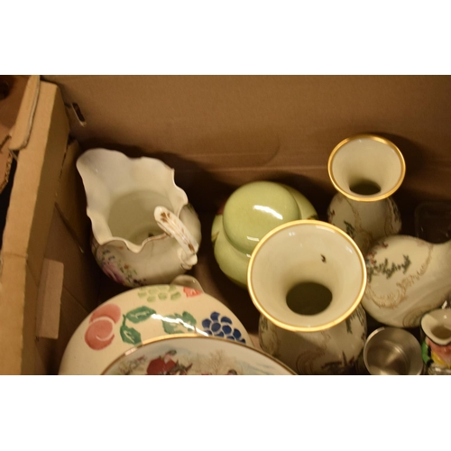10j - A mixed collection of items to include Royal Worcester, Carlton Ware, a glass dressing table set etc...