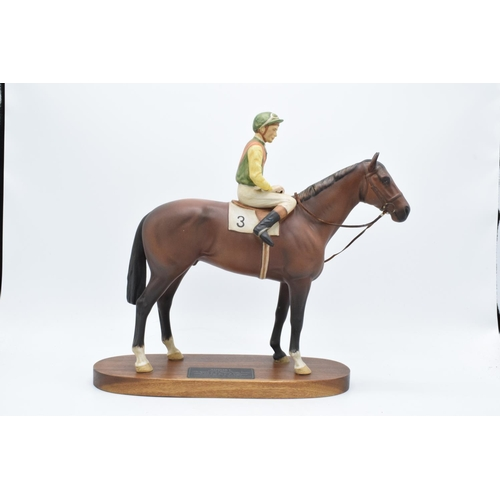 153 - Beswick Connoisseur model Nijinsky with Lester Piggot up 2352. In good condition with no obvious dam...