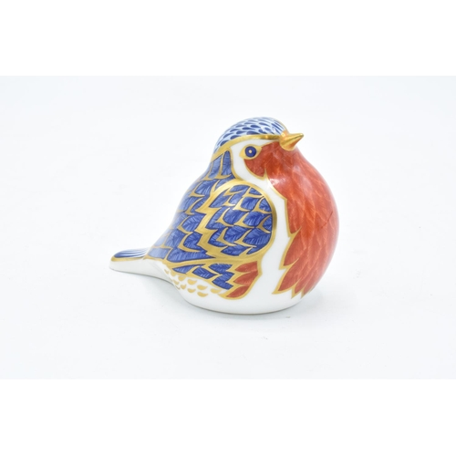 154 - Royal Crown Derby paperweight of a Robin with gold stopper. In good condition with no obvious damage...