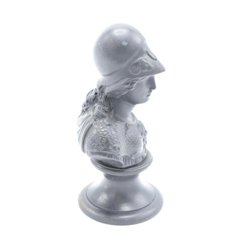 52 - An early 20th century Wedgwood Black Basalt bust depicting Minerva or a similar Roman God/Goddess. A...