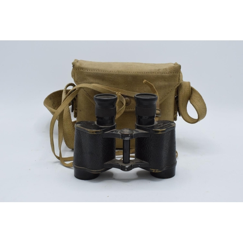 222 - A Kershaw and Son Leeds 1941 Bino Prism No.2 MKII X6 binoculars No 139137 together with a carry case...