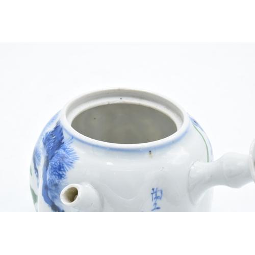 24 - Late 19th century Japanese Kutani onion-shaped vase together with a late 19th century Japanese blue ...