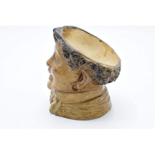 77 - A 19th century Bernard Bloch stoneware tobacco jar in the form a boy, impressed marks to base 'BB'. ...