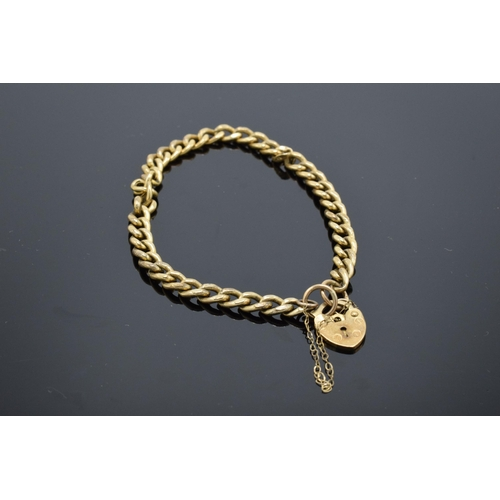 473 - 9ct gold hollow link bracelet with some damage 4.7g