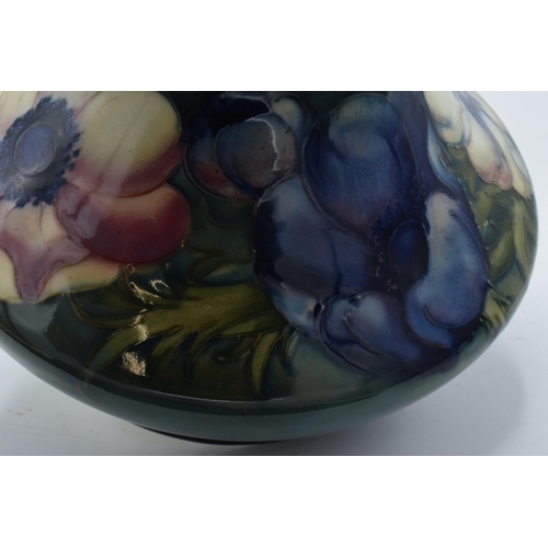 72 - Large Moorcroft low shouldered vase in an Anemone or similar pattern. 31cm tall. The piece displays ...