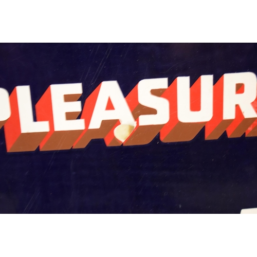157 - An original vintage enamel sign 'Park Drive For Pleasure, 10 for 4D, Plain or Cork Tip, 5 for 2D'. 7...