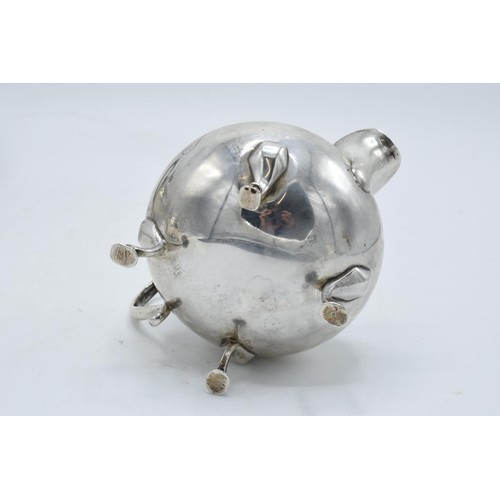 182 - Silver 3-piece tea set to consist of the teapot, milk and sugar bowl (3). Hallmarked for Birmingham ...