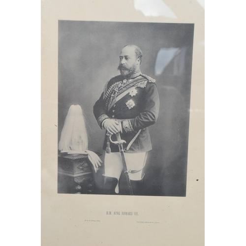 256 - A framed photo of 'H M King Edward VII' by W & D Downey, published by Marion and Co, London. 64 x 49...