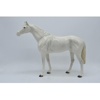 Beswick rare painted white large racehorse 1564. 28.5cm tall. In good condition with no obvious damage or restoration though both ears have been professionally restored.   This item can be posted but we will only do so in a box on it's own due to the fragile nature and size of the item.