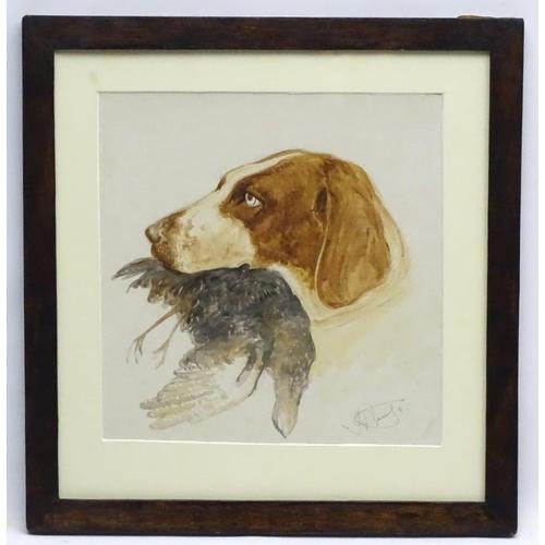 123 - James Hardy Jnr (1832-1889) British Canine School, Watercolour Dog Portrait, English Pointer Gun dog...