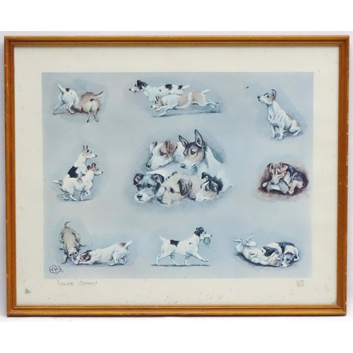 132 - Louise Wood XIX-XX Canine School, Limited edition signed coloured print 480/500, Terriers , various ...