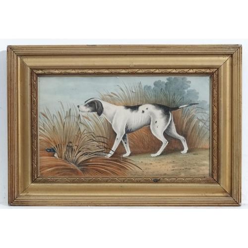 136 - XIX English Sporting, Chromolithograph, A gun dog finds a pheasant, 5 3/4 x 9 1/2''...