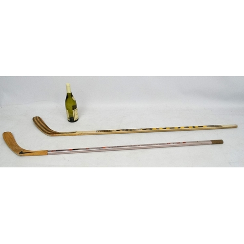142 - Ice Hockey: Two Ice Hockey sticks to include a Nike 350 Stiffness Pro Series Aluminium Radius Edges ...