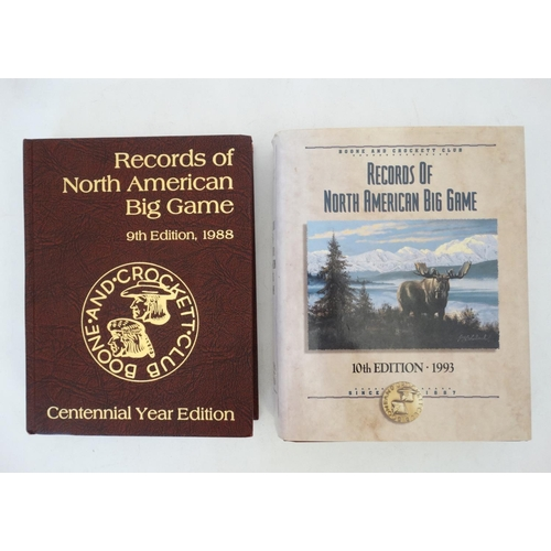 2 - Books: Two editions of '' Records of North American Big Game '' to include the 1988 Centennial Year ...