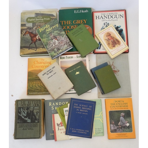 27 - Books: A large collection of sporting books, to include: '' We'll All Go A-Hunting Today '' by Gilbe...