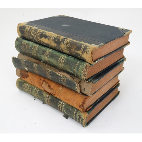 31 - Books: 5 volumes of '' The Sporting Mirror ''1882-1885, to include volumes 3, 4, 5, 6 and 8, edited ...