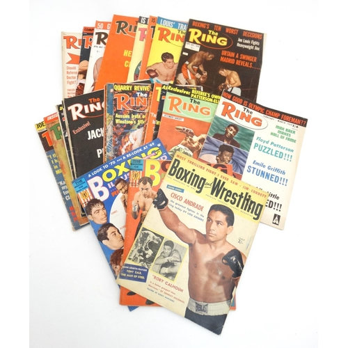35 - Boxing: '' Boxing and Wrestling '' magazine volume 4, number 9 , July 1956, published by Weider Publ...