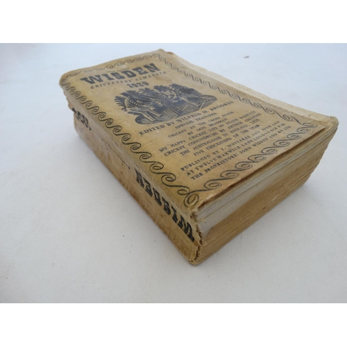 36 - Book: ''John Wisden's Cricketeers' Almanack 1939 '' 76th Edition , edited by Wilfrid H Brookes, with...