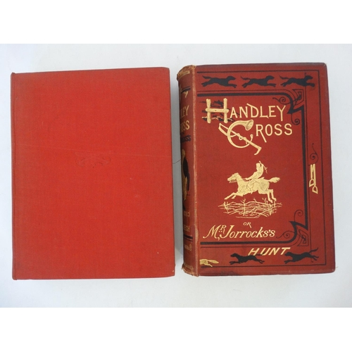 42 - Hunting Books: '' Hunts with Jorrocks from Robert Surtees' Handley Cross '' with illustrations by G....