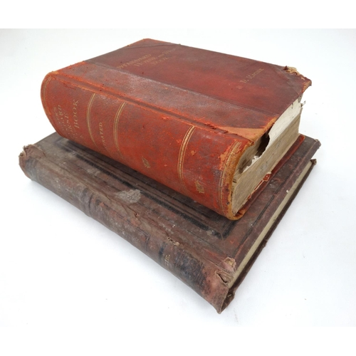 45 - Books:  '' Standard Horse and Stock Book '' by D Magner, c1903, having red leather spine and gilt co...