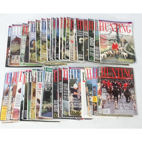 50 - Hunting: A large collection of Hunting magazines to include approximately 32 1990's and 00's edition...