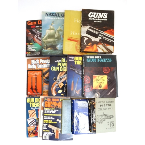 7 - Books: A collection of books, catalogues and pamphlets on shooting , to include : '' Gun Collecting ...