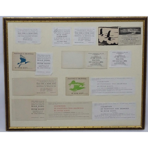 88 - Peter Markham Scott (1909-1989) M.B.E. , DSC  a quantity of Exhibition cards and flyers as given by ...